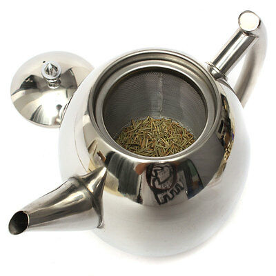 1500ML Stainless Steel Tea Maker Coffee Pot Kettle With Strainer