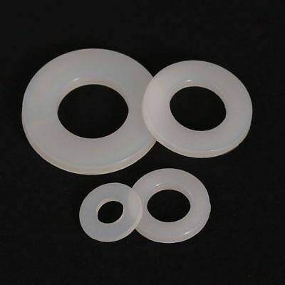 M2 M3 M4 M5 M6 M8 M10-M20 Nylon Flat Washers to fit Metric Bolts & Screws White