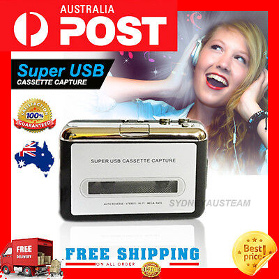Tape to PC USB Cassette & MP3 CD Converter Capture Digital Audio Music Player HP