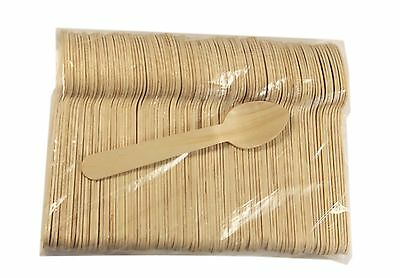 """Wood Taster Spoon Ice Cream 4.5"""" Spoon 500 ct with concave Green 110"""
