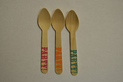 "20 ct of 4.5"" Wood Taster Spoons/ Ice Cream PARTY Spoons with Concave - PARTY 20"
