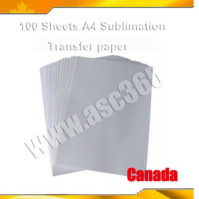 100 Sheets A4 Dye Sublimation Transfer Paper Heat Press Printing Made in Korea