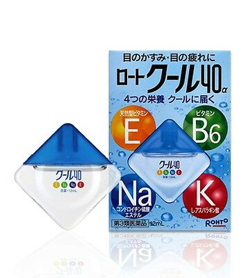 Rohto Cool40α Eyedrops 12ml from Japan free shipping