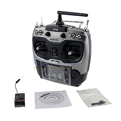 Radiolink AT9 AT-9 2.4G 9CH RC Radio System Transmitter Mode 2 w/ R9D Receiver