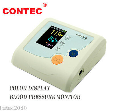CONTEC Sphygmomanometer,Blood Pressure Monitor,CONTEC08E,NIBP+Cuff Color Display