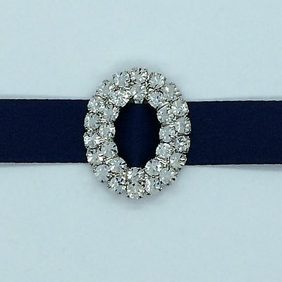 10x Double over Diamante buckle for invitation to suit 10mm ribbon