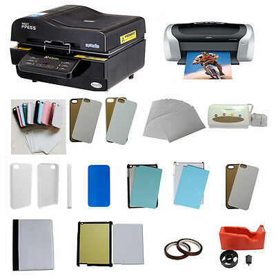 3D Multi Sublimation Machine Epson Printer Transfer Ipad Iphone Case Cover Print