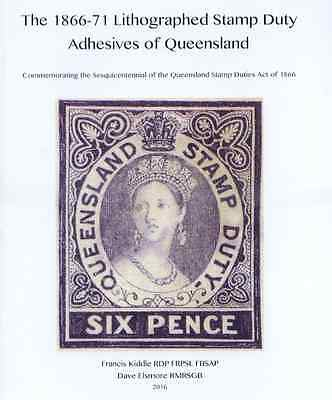 Queensland 1866-71 Stamp Duty FREE .pdf 55 A4 pages Book by Kiddle - Elsmore NEW