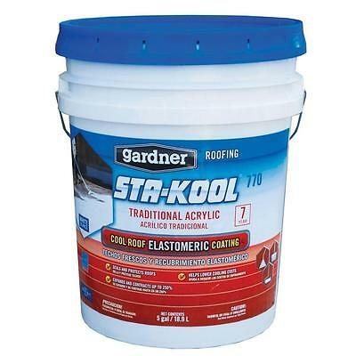 Cool Roof Elastomeric Coating 5 Gallon RV Trailer Deck Dock Acrylics Seal