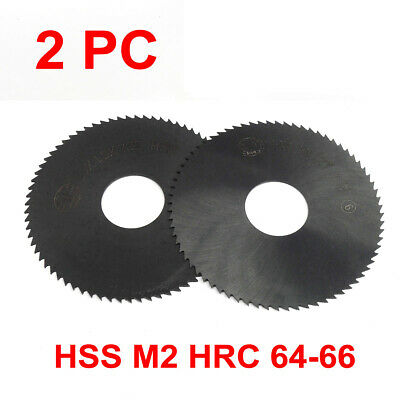 2PC Slotting Slitting Saw 60x16mm, 0.5-1mm 72 Teeth, HSS Nitride HRC 62-64