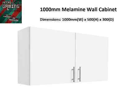 Wall Cabinet 1000mm Laundry Kitchen Garage Complete Brand New White