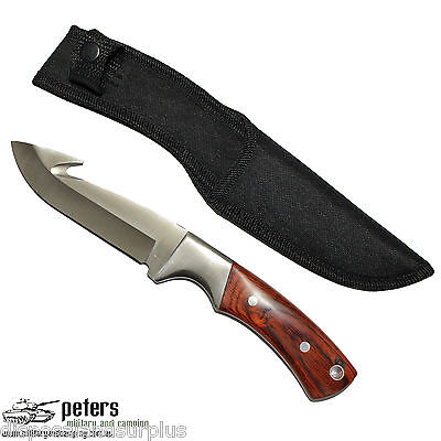 Knife Skinning / Hunting - Fixed Blade W/ Gut Hook Stainless Steel W/sheath