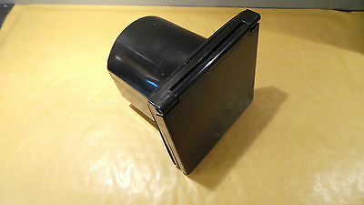 240v BLACK FLUSH FITTING MAINS 3 PIN INLET BOX CARAVAN MOTORHOME MOTORAMA PO113B