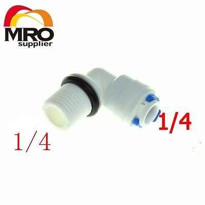 """5Pcs1/4"""" OD Hose Connection 1/4""""Male Elbow Quick Connector RO Water Reverse"""
