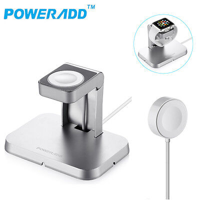 Aluminum Dock Stand Holder Magnetic Charging Cable for Apple Watch iWatch Series