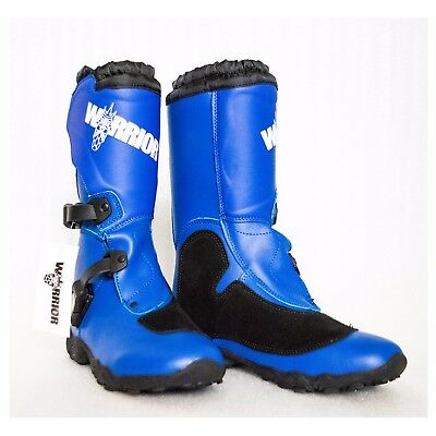 Motocross Boots Kids/Youth sizes MX boots, dirt bike/quad bike, protection, BLUE