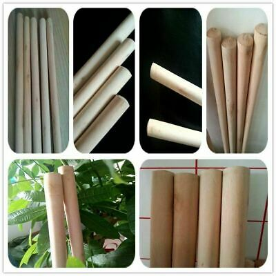 "PACK OF 8 Wooden Broom Handles 4ft x1-1/8""  (1220 x 28mm)sweep brush sweeping PK"