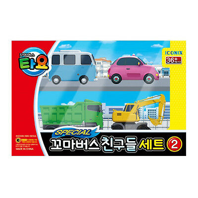 The Little Bus TAYO Special Mini FRIENDS Toy Set 4 Pcs (Max Poco Heart BongBong)