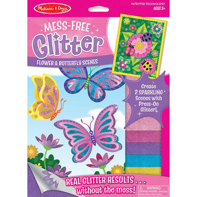 Melissa and Doug Mess Free Glitter Kids Art - Flower and Butterfly Scenes