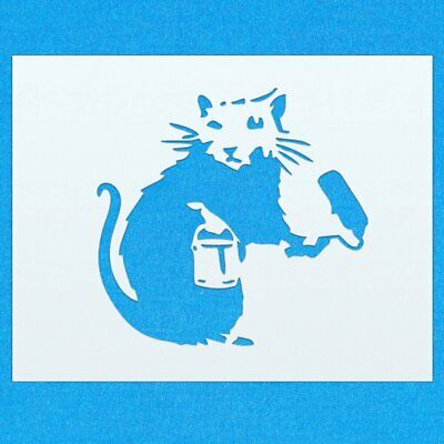 Banksy Mouse Mylar Airbrush Painting Wall Art Stencil