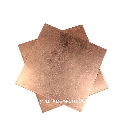 T2 Copper Sheet Copper Strip 0.3-8mm Thick Any Size Cut Tool Conductive Gauge