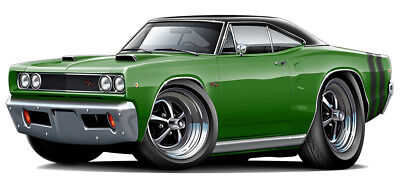 1968 Dodge Coronet RT Muscle Car Art Print NEW