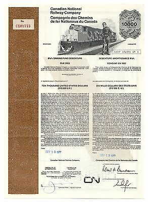 1977 Canadian National Railway Co. USD Sinking Fund No. CX01773