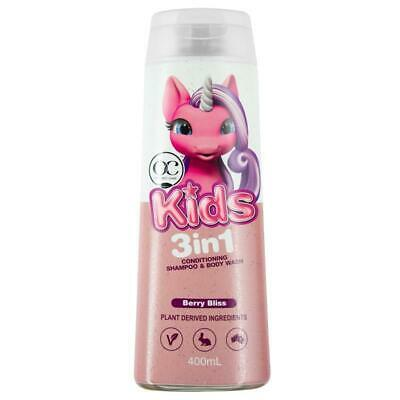 Organic Care Kids 3in1 Shampoo Conditioner Body Wash Berry Bliss 400ml