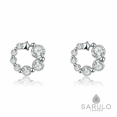 NightSky Sarulo 925 Sterling Silver Earrings New Jewelry Fashion Gift Box Womens