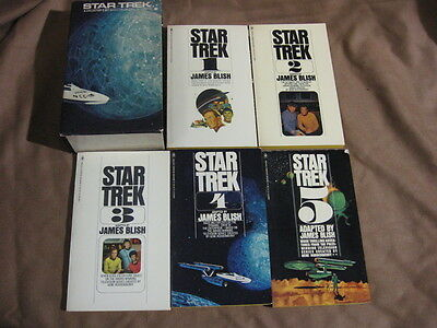RARE Star Trek 5 Book Bantam Collectors Set With HTF Box Cover Unread 1967