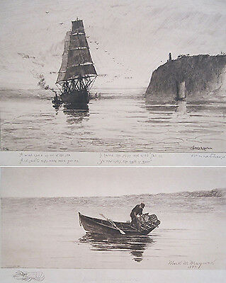 Set of Two Etchings by Louis Harlow & Mark Maycock