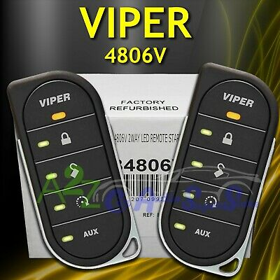 Viper 4806V 2 Way Vehicle Car Keyless Entry Remote Start System 4806 V