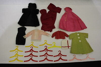 HANDMADE Lot Of Barbie/Doll Clothes,10 Pieces & Hangers, Very Nice Set!