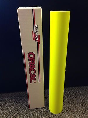 "Oracal 6510 1 Roll 24""x5ft Fluorescent Yellow 029 Sign Vinyl"