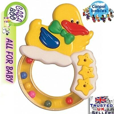 "Canpol Baby Rattle ""Ducky""  colourfull design NEW"