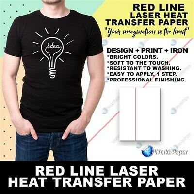 "HEAT PRESS LASER PRINTER TRANSFER PAPER for Dark 8.5"" x 11"" 50 Pk RL :)"