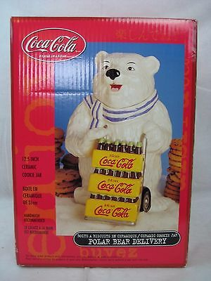 Coca-Cola Coke Ceramic Cookie Jar Polar Bear Delivery New In Box