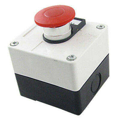 600V 10A Momentary Switch Red Green Mushroom Push Button Station WS