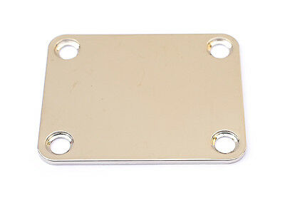4 Hole Neck Plate Neckplate for Guitar • Nickel