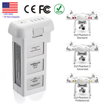 Intelligent Battery Replacement For DJI Phantom 3 Drone Quadcopter 4480mAh 15.2V