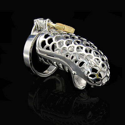 Factory Price Stainless Steel Device Snake-Head Chastity Cage Lock A240