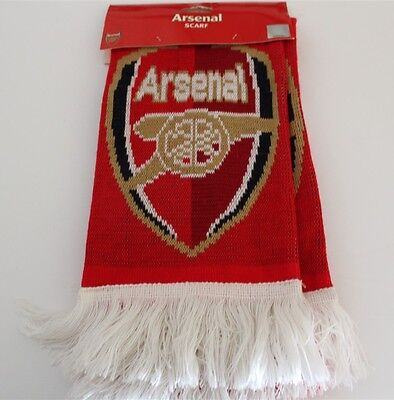 Arsenal Premier League Soccer Football Scarf Unisex Brand New Official Product