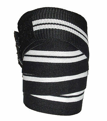HEAVY DUTY KNEE WRAPS POWERLIFTING/BODYBUILDING GYM SUPPORT STRAPS 4 meter