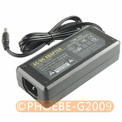15V 5A 75Watt Power Supply Adapter 100-240V AC to DC 5.5 x 2.5mm/5.5 x 2.1mm