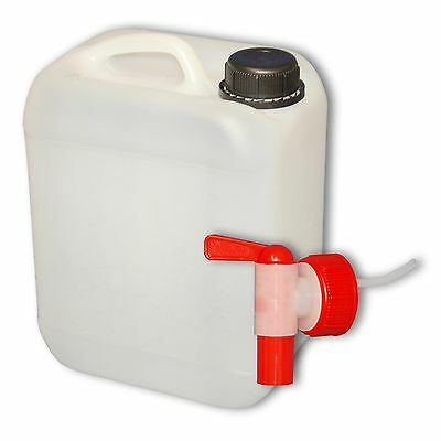 Plastic canister Jerrican 5 L DIN 45 + 1 tap camping Made in Germany (22004+039)