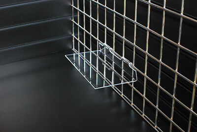 300 x 100 Gridwall Flat Shelf retail shop display