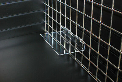 Gridwall Flat Shelf 595 x 200 retail shop display