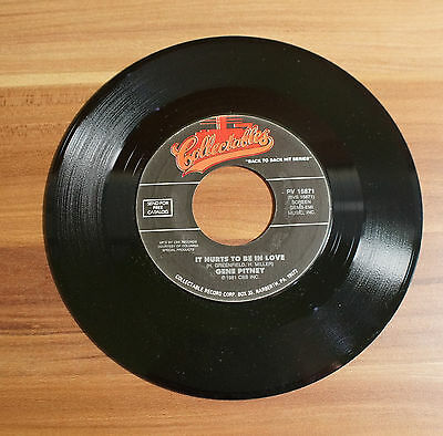 """Single 7"""" Vinyl Gene Pitney It hurts to in love/I'm gonna be strong collectables"""