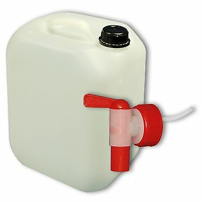 Plastic canister Jerrican 10 L DIN 45+ 1 tap camping Made in Germany (22003+039)