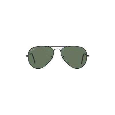 New Authentic Ray Ban Aviator Sunglasses RB3025 002/58 55mm Polarized Green Lens